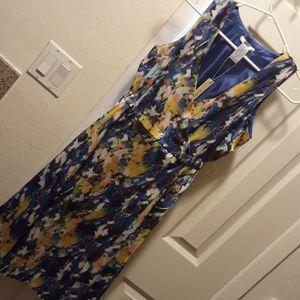 Esley multi color wrap dress Small